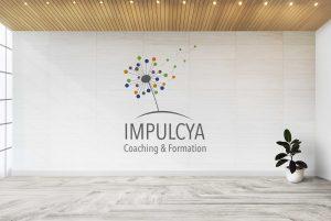 création du logo Impulcya - Jenny Portier Graphiste Multimedia